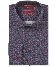 Slim Fit Shirt Indigo Rouge Paisley