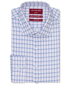 Slim Fit Shirt Pink Blue Dobby Check