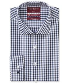 Slim Fit Shirt Navy Tone Check