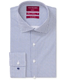 Slim Fit Shirt Indigo Geometric Print