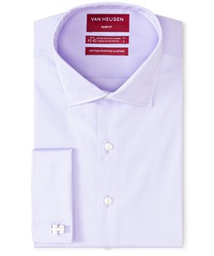 Slim Fit Shirt Mauve Textured French Cuff