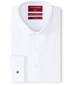 Slim Fit Shirt White Jacquard