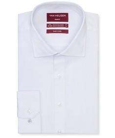 Slim Fit Shirt White Jacquard Dobby