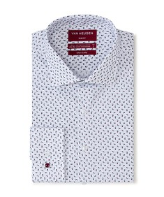 Slim Fit Shirt White Oxford Roses