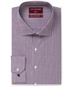 Slim Fit Shirt Navy and Ox Mini Check
