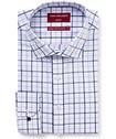 Men's Slim Fit Shirt Mauve Indigo Check