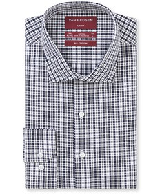 Slim Fit Shirt Deep Navy Pattern Check