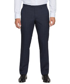 Euro Tailored Commuter Suit Pants Navy Check