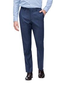 Euro Tailored Fit Suit Pant Denim Blue Birdseye