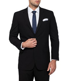 Classic Relaxed Fit Suit Jacket Performa Black