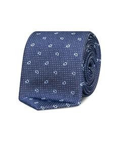 Neck Tie Navy Paisley + Spots