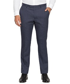 Slim Fit Commuter Suit Pant Navy Small Check