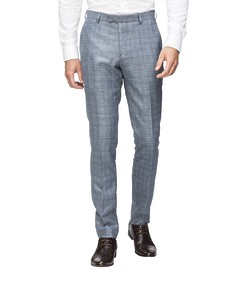 Super Slim Fit Suit Pant Sky Prince of Wales Check