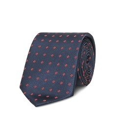 Neck Tie Navy with Red Spot