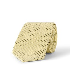 Tie Yellow Gold with Navy Spots