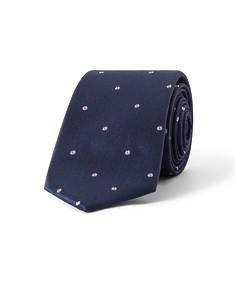 Tie Navy with Purple Spots