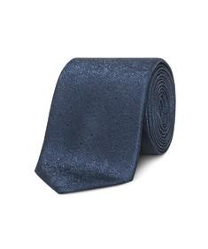 Neck Tie Deep Navy Foil Look