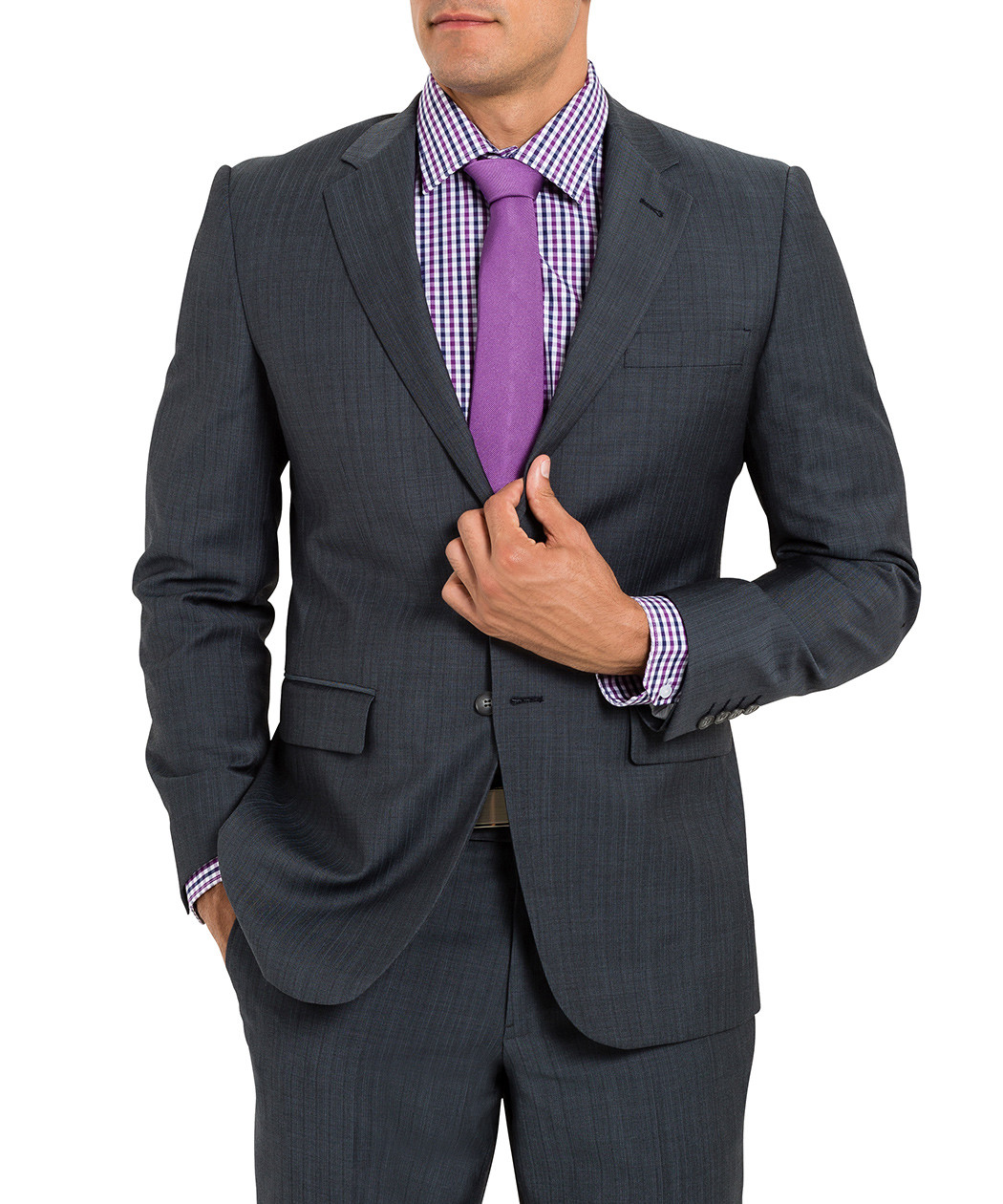 Van Heusen Slim Charcoal Suit Jacket Online Au