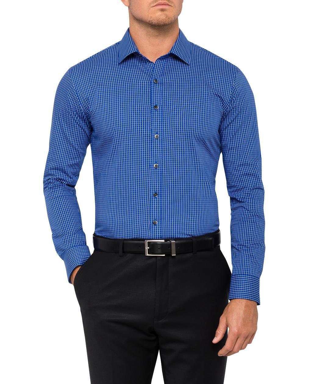 7b6da3f729 ... Mens Slim Fit Shirt Royal Blue Check. Product Image · Image 1 ...