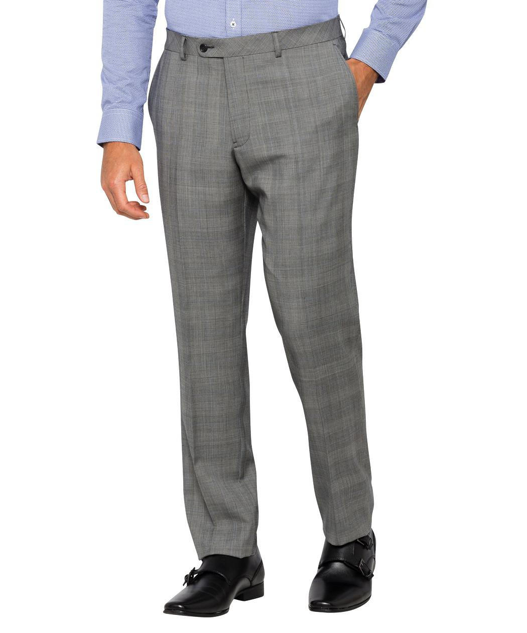a93d1e20f8 Mens Slim Fit Suit Pant Grey Prince of Wales Check