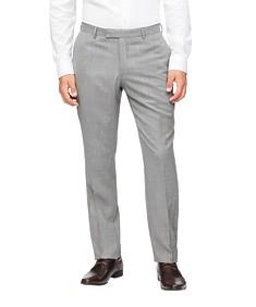 Slim Fit Suit Pant Grey Textured