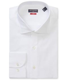 Slim Fit Shirt White Herringbone