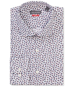 Slim Fit Shirt Indigo Florals Print