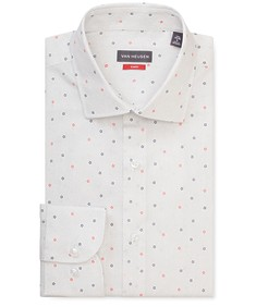 Slim Fit Shirt White with Scattered Print