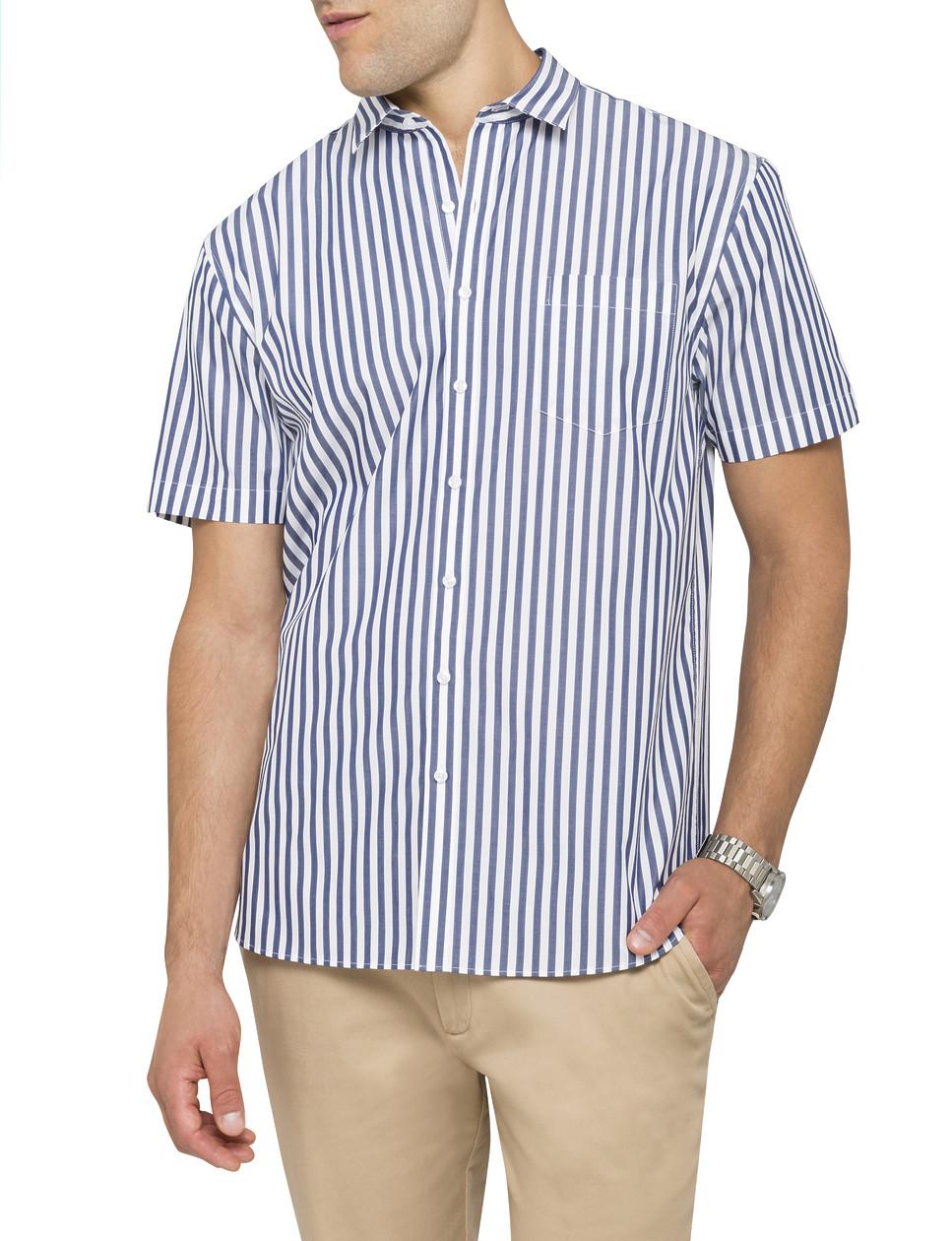 68038d27d9eb9 Van Heusen    Casual Shirts    Mens Casual Short Sleeve Shirt Summer Stripe.  Product Image · Image 1 Image 2