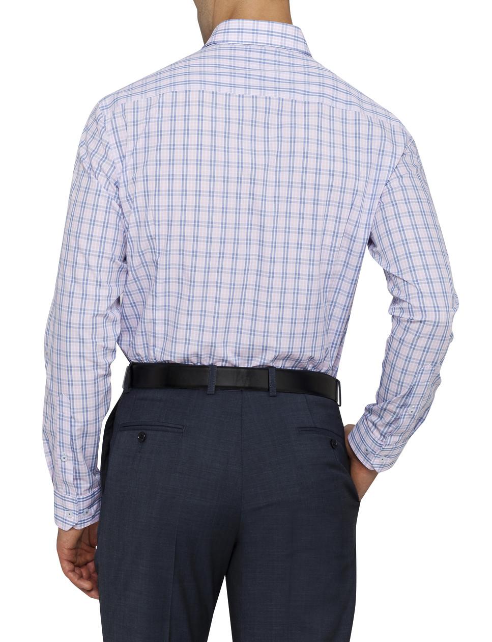 Mens Slim Fit Shirt Pink Check Van Heusen Business