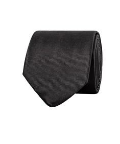 Mens Euro Tie Solid Black