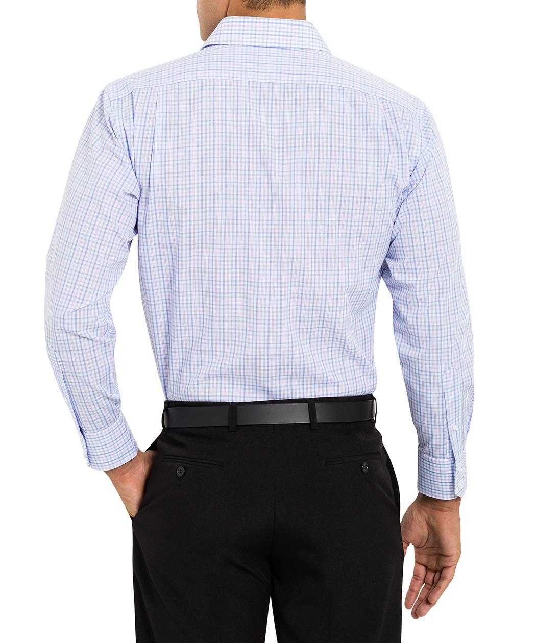 van heusen studio euro fit purple check shirt van heusen