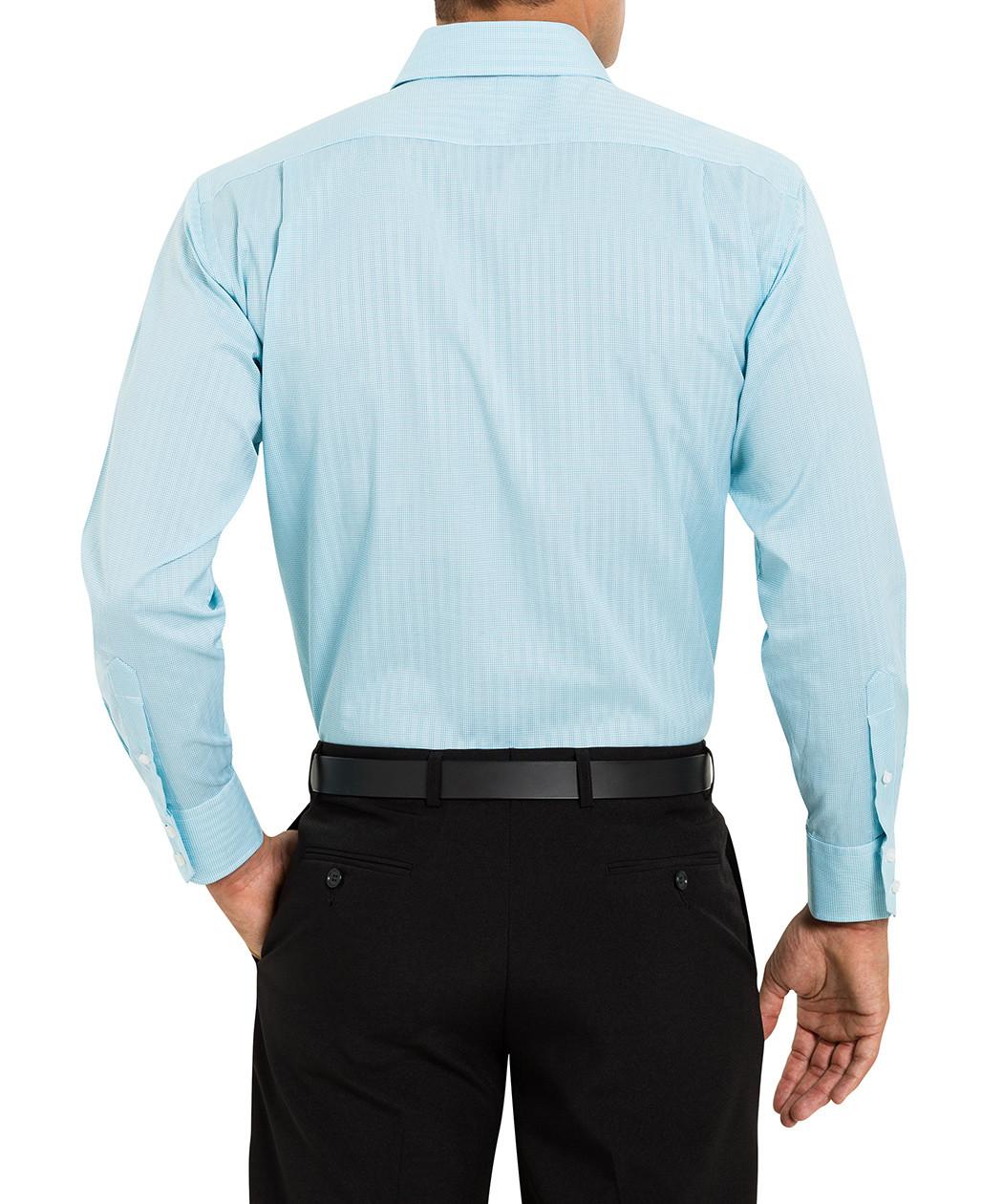 van heusen studio euro fit mint check shirt van heusen mens shirts