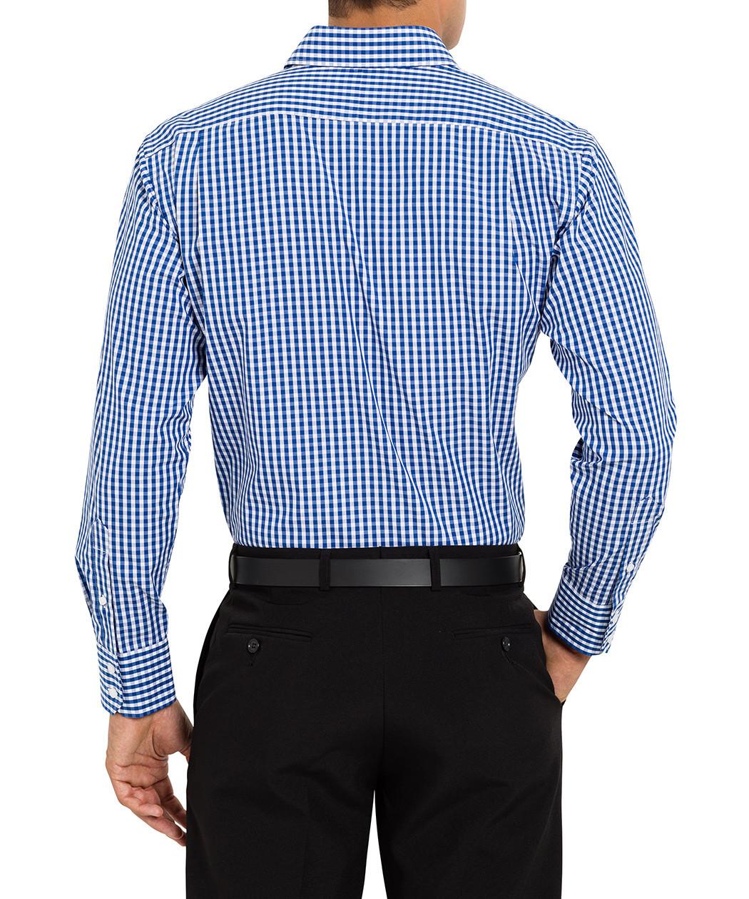 van heusen studio euro fit blue gingham shirt van heusen mens shirts
