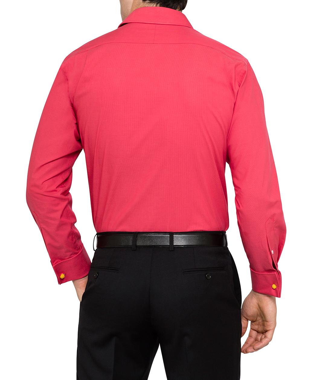 van heusen studio euro fit pink french cuff shirt van