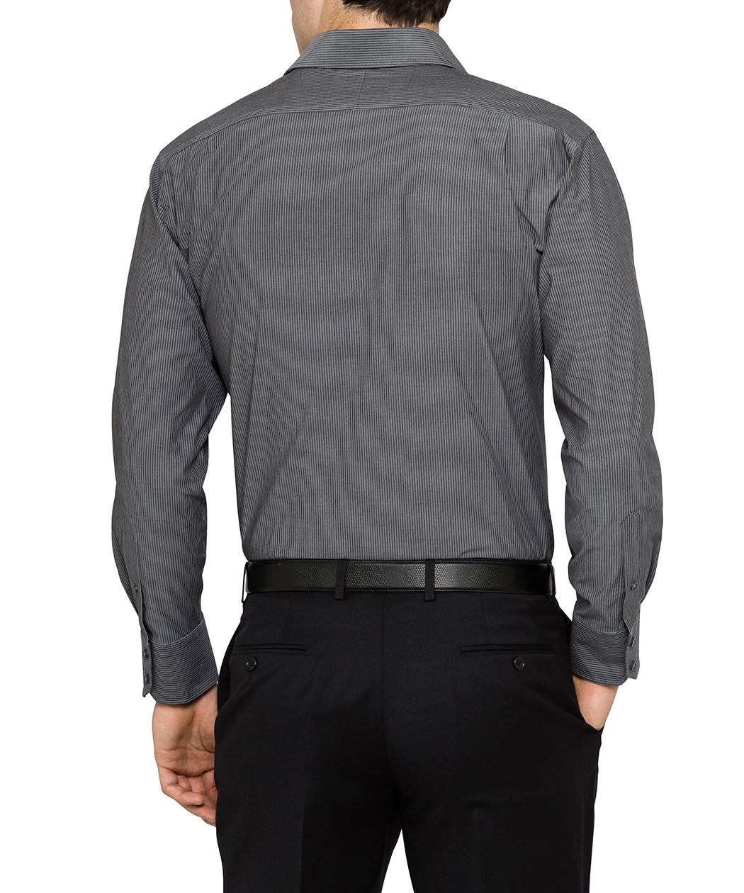 van heusen studio charcoal stripe euro fit shirt van heusen 40 off