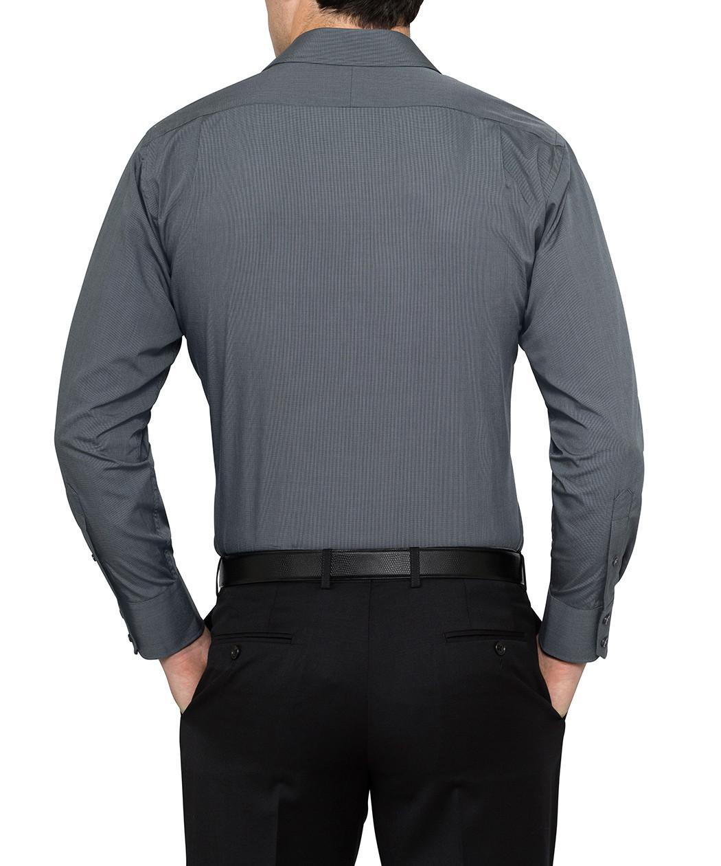 van heusen studio solid charcoal euro fit shirt van
