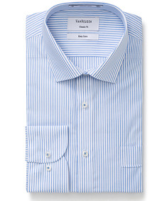 Classic Relaxed Fit Shirt White and Blue Stripe