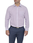 Mens Classic Fit Shirt Mulberry Vertical Stripe