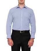 Mens Classic Fit Shirt Navy Check