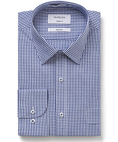 Classic Relaxed Fit Shirt Navy Check