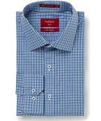 Slim Fit Shirt Blue Small Check
