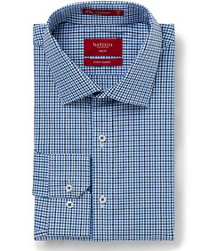 Slim Fit Shirt Blue Small Check