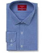 Slim Fit Shirt Blue Mini Houndstooth