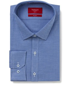 Slim Fit Shirt Blue Mini Houndstooth