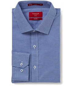 Slim Fit Shirt Navy Mini Check