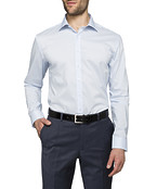 Mens Slim Fit Shirt Blue with thread design