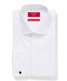 Mens Slim Fit Formal Dinner Shirt White