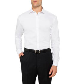 Mens Slim Fit Formal Dinner Shirt White