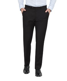 Euro Tailored Fit Business Trousers Black